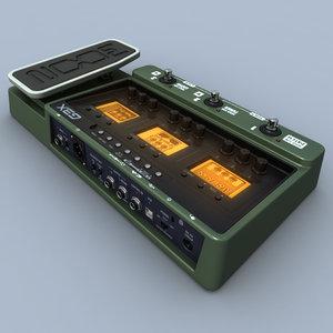 zoom g3x guitar processor 3d model