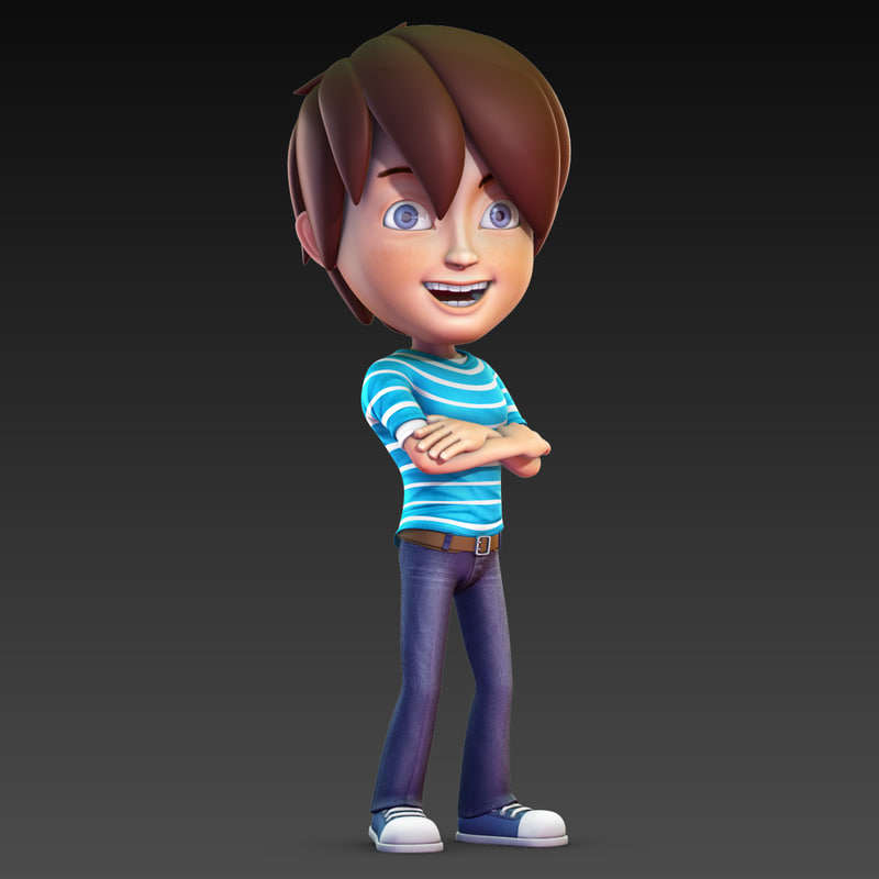 Cartoon Characters 3d Model : Cartoon rig d model