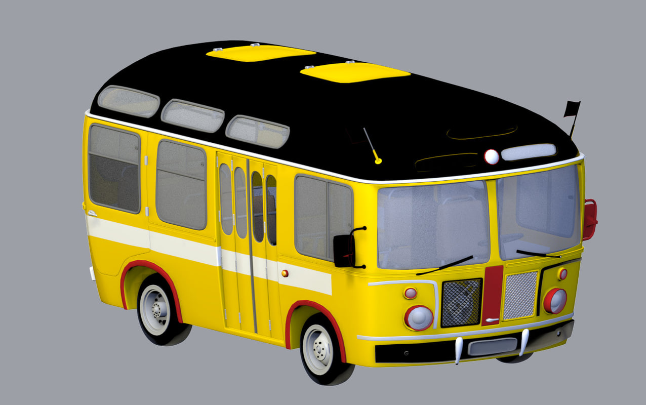 how to draw a 3d bus