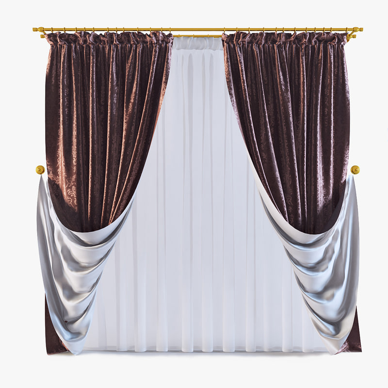curtains 09 3d model