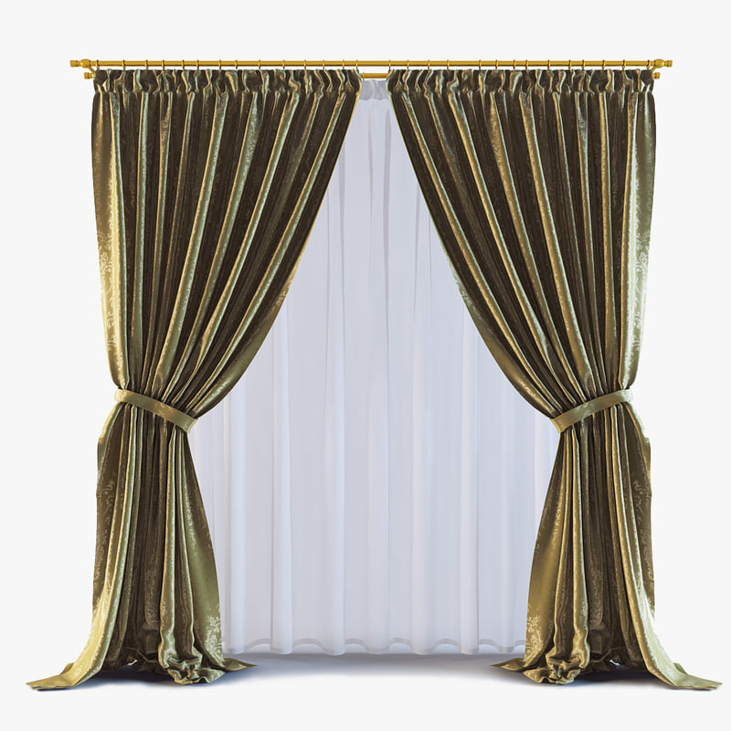 3d model curtains 14