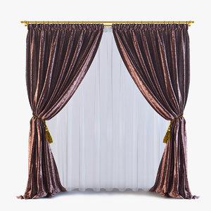 curtains 13 3d max