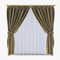 curtains v-ray silk 3d 3ds