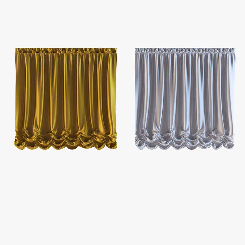 curtains 19 3d 3ds