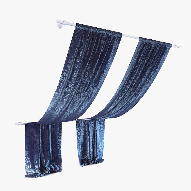 3d curtains 08 model