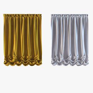 curtains 20 3d model
