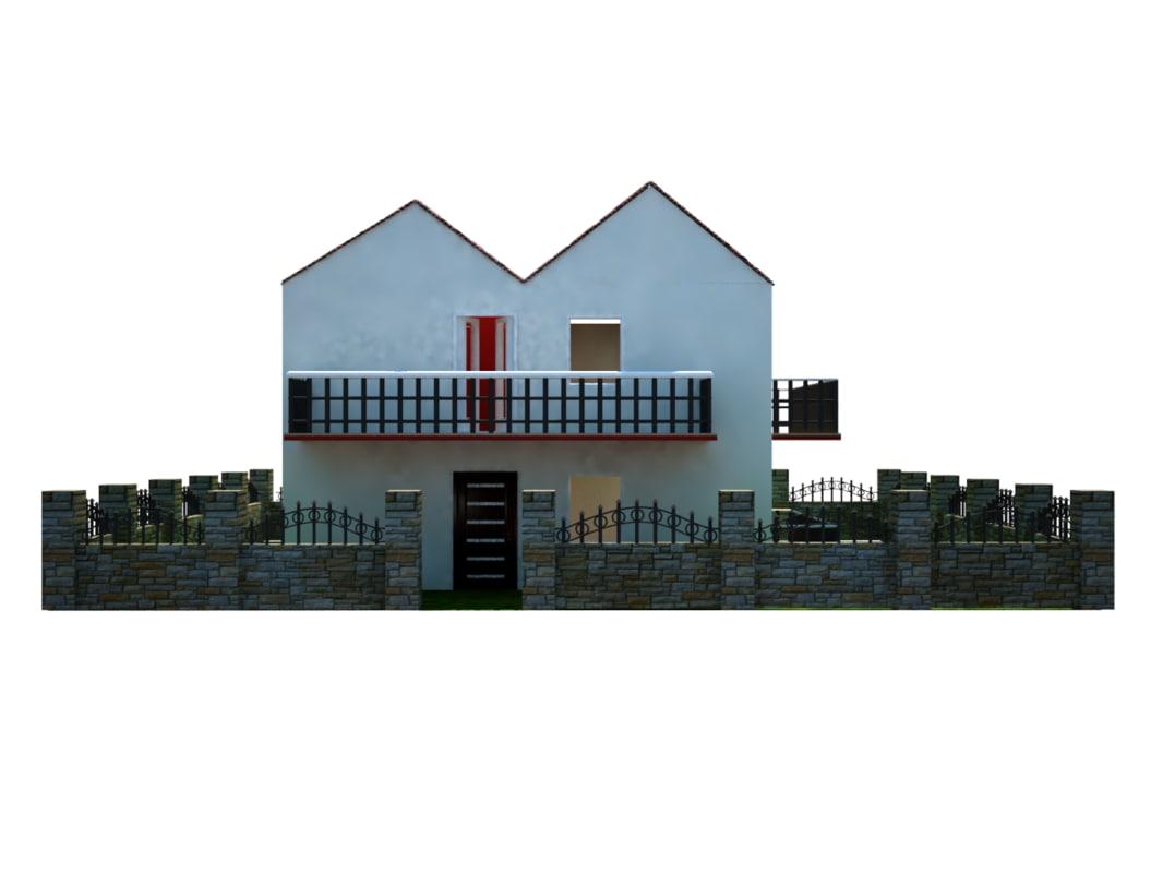 3dsmax house garden