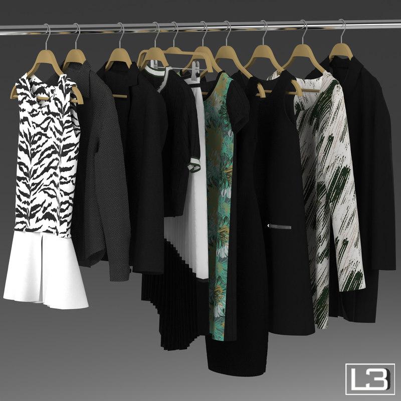 woman clothes hangers 3d max