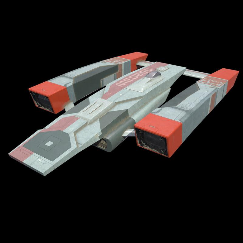 3d model medbed shuttle