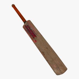 3d model bat old cricket used