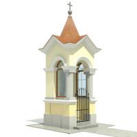 3d model small chapel