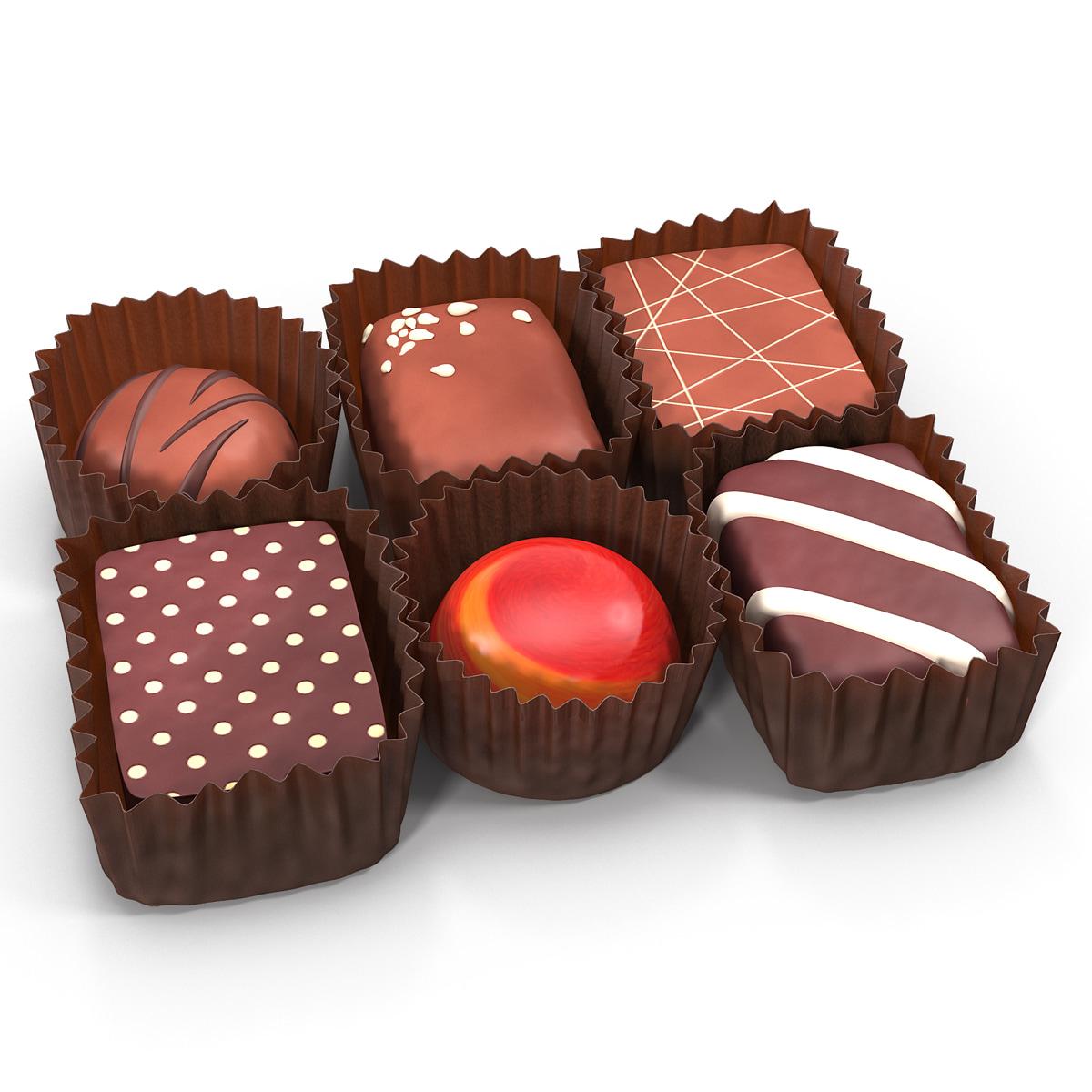 3d chocolates set 2