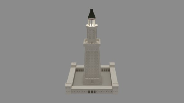 3d lighthouse alexandria model