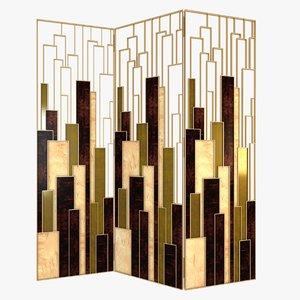 3d brabbu delphi folding screen model