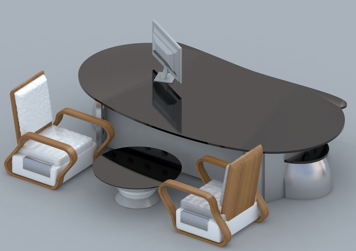 3d chair office table sofa furniture model