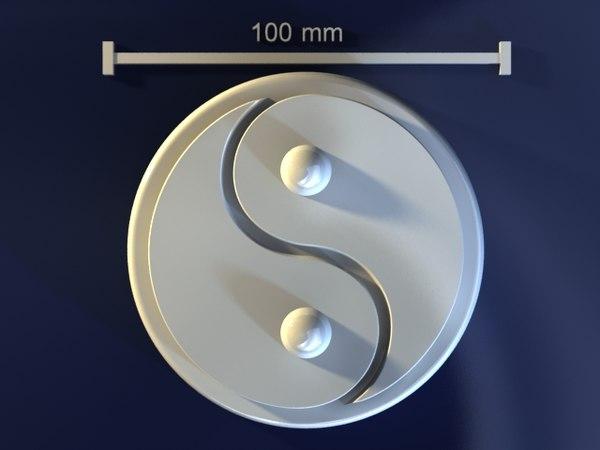 3d model yin yang