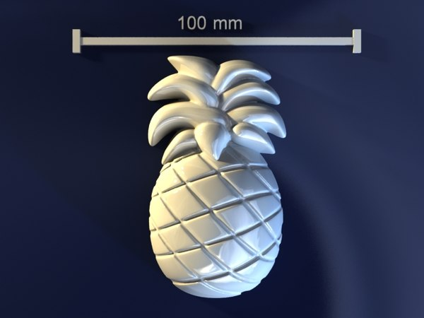 pineapple mold hand 3d model