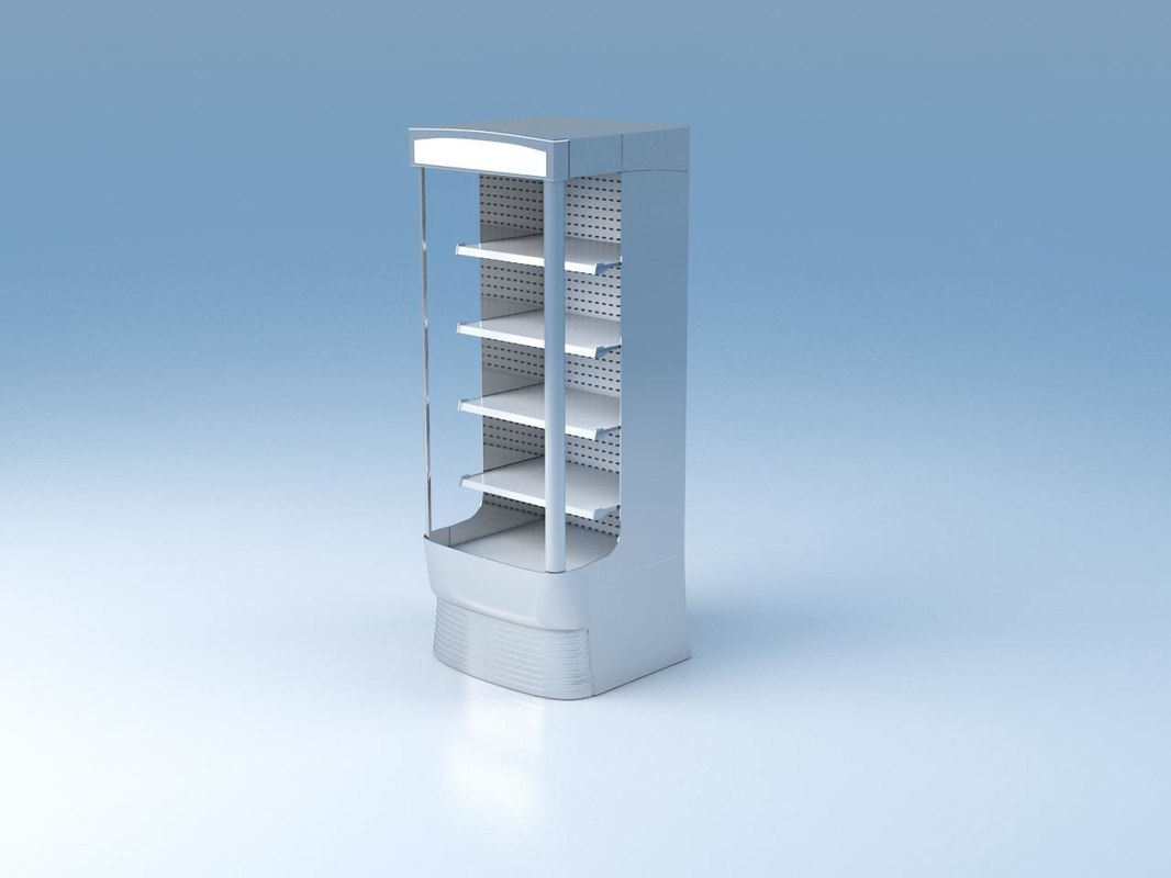 3d model chilled shelving
