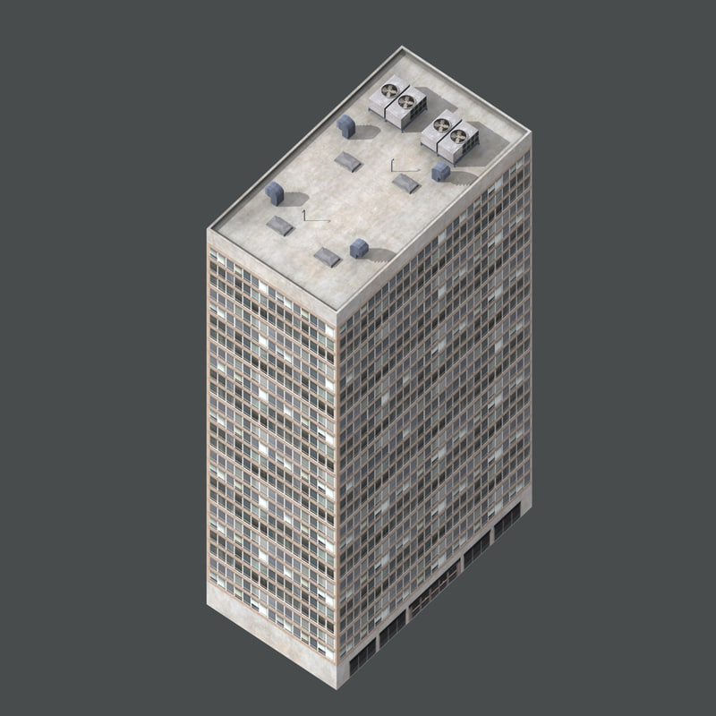 3d max isometric building
