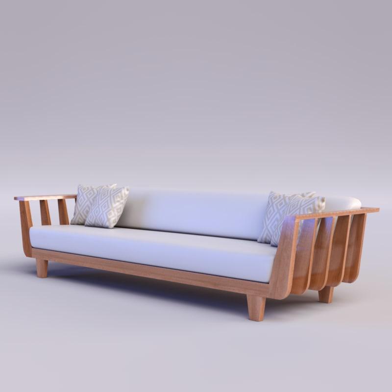 3d inout sofa model