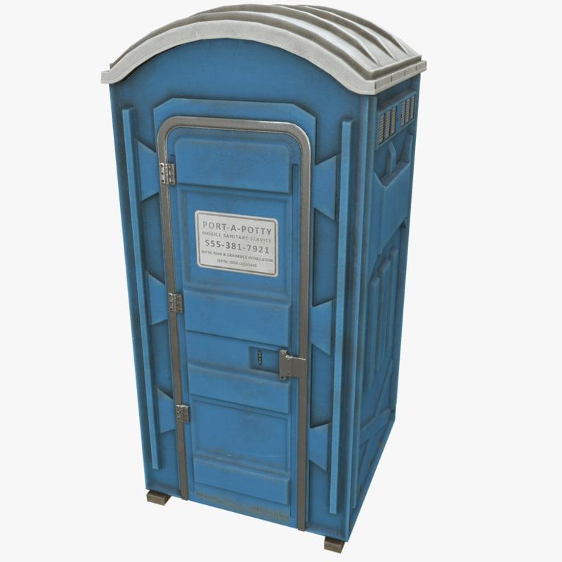 portable toilet porta 3d model