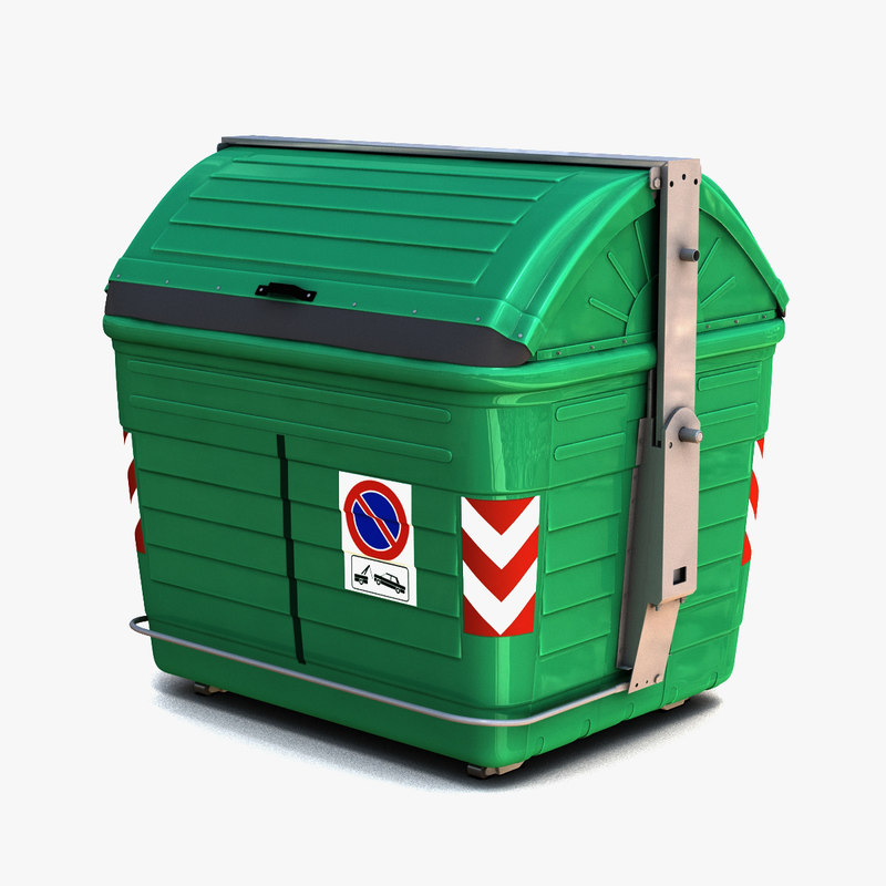 3d garbage dumpster model