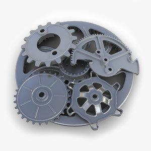 3d model gears set 05