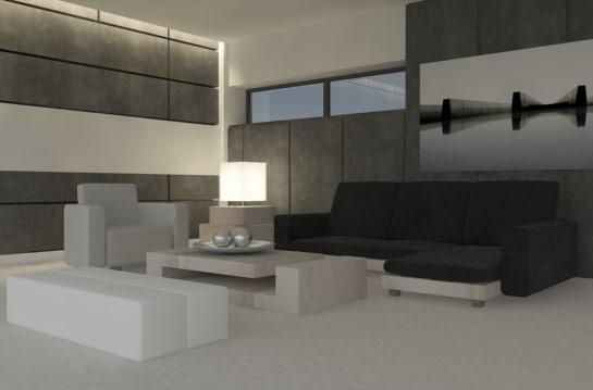c4d architecture interior room