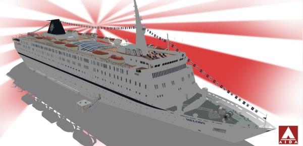 3d model of cruises msc melody