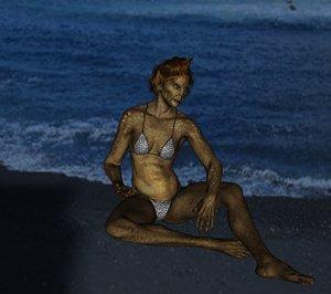 3d model sea creature