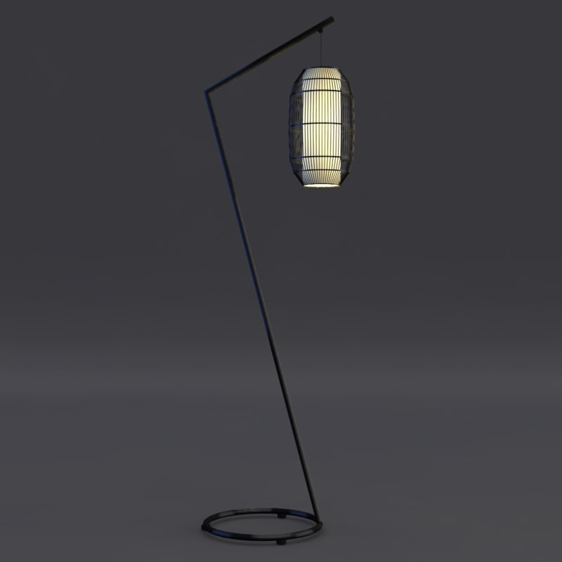 kai z floor lamp 3ds