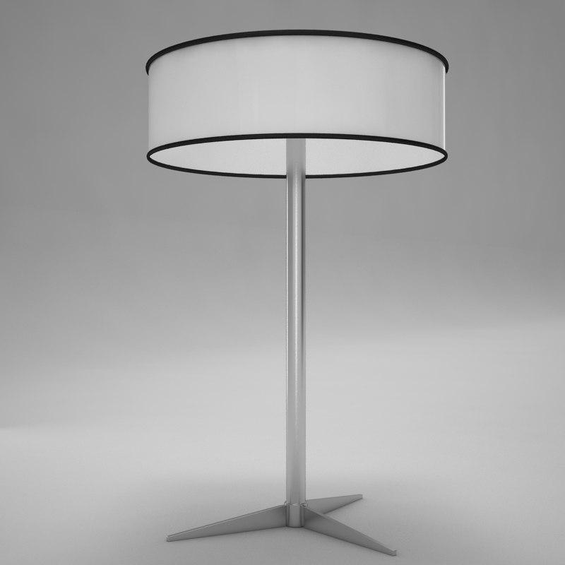 3d model of lamp scene