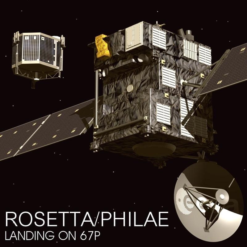 rosetta philae spacecraft 3d model