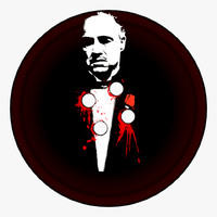 3d model clothing button godfather