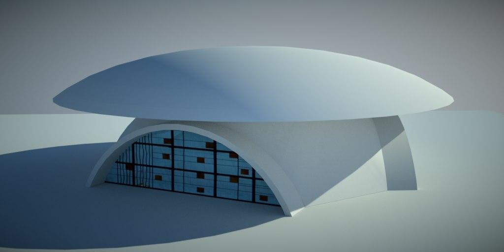 3d max futuristic house