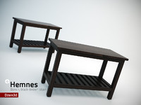 3ds max hemnes bench