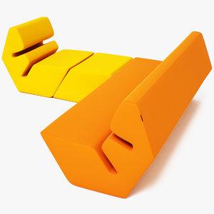 3d model evo sofa armchair