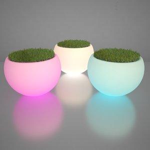illuminated planters 3d max