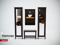 3ds max hemnes cabinet set t