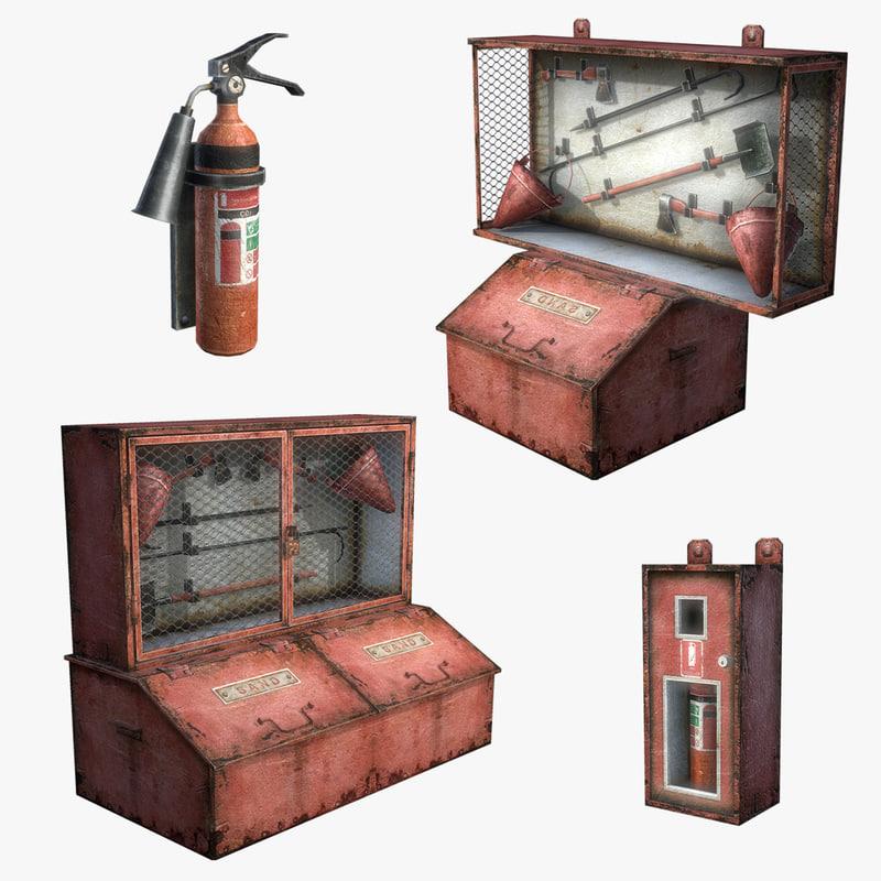 3ds max extinguisher set