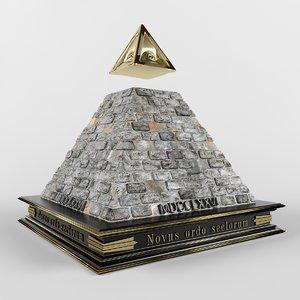 3d illuminati pyramid model