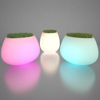 3d model illuminated planters 2