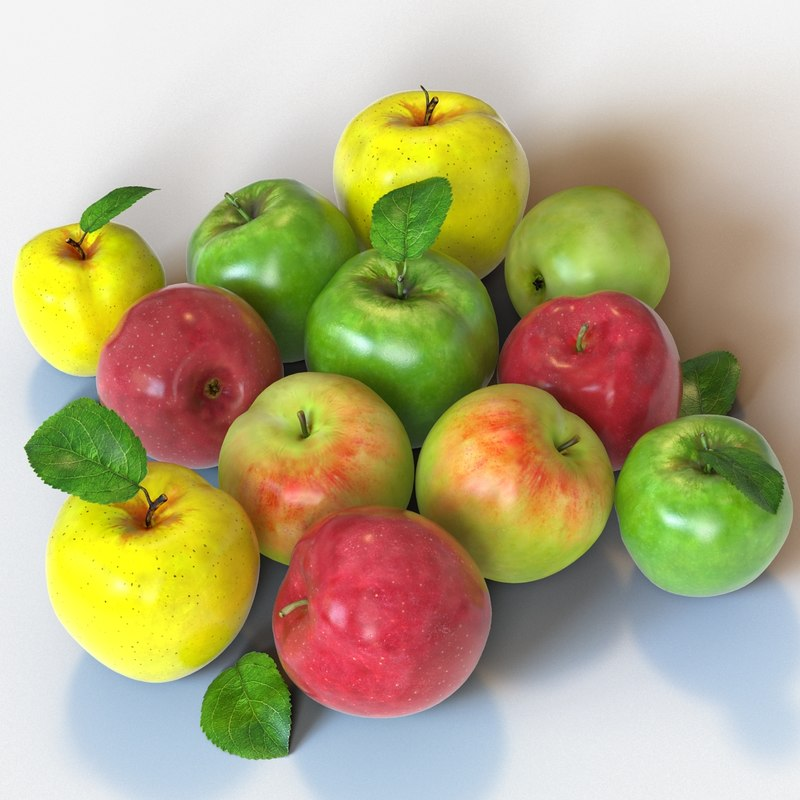 3ds max apples red green