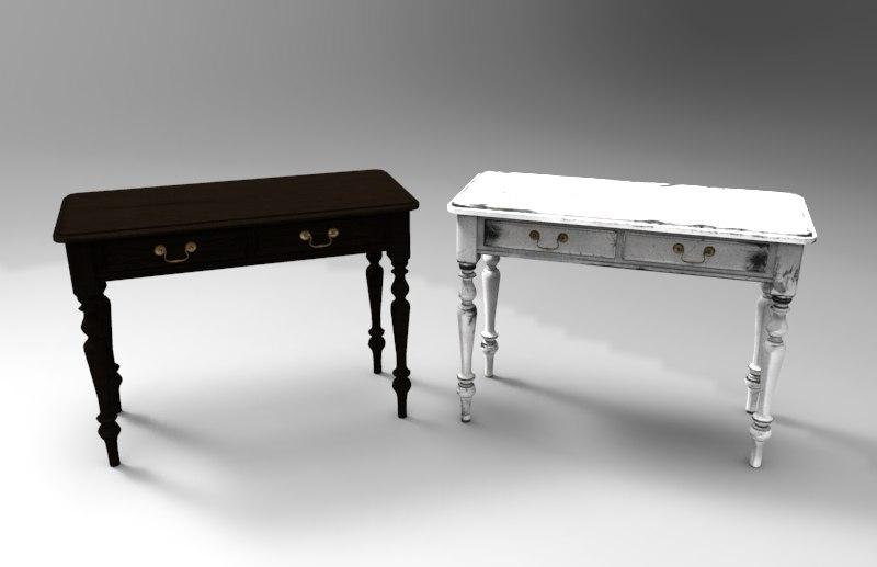 table room furniture 3d fbx