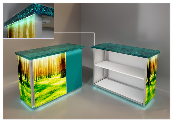collapsible table 3d c4d