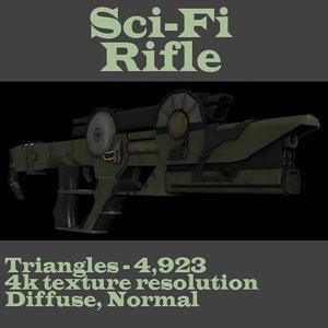 3d model concept sci-fi weapon