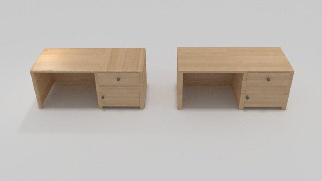 desk wood wooden 3ds