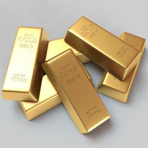 gold bar 3d max