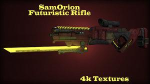 3d weapon futuristic model