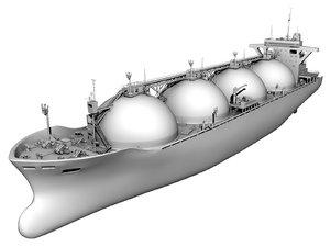 lng tanker ship 3d max